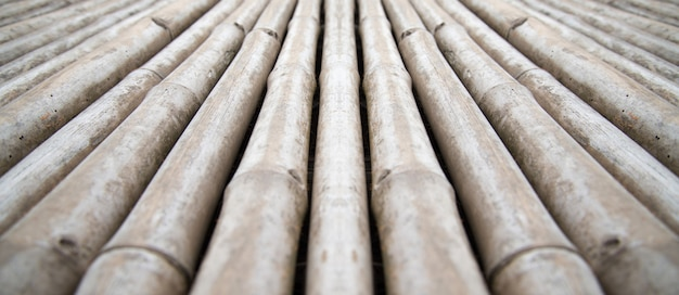Close-up view of wooden wall surfaces for background and antique wooden floors Premium Photo