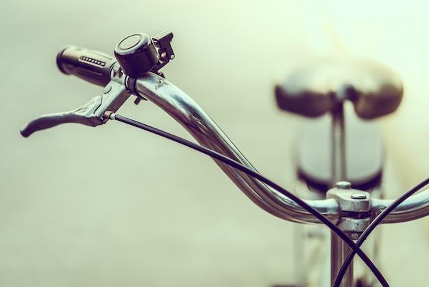 ベルとクローズアップビンテージ自転車 無料写真