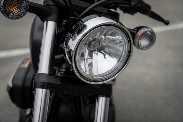Close up of vintage motorcycle Free Photo