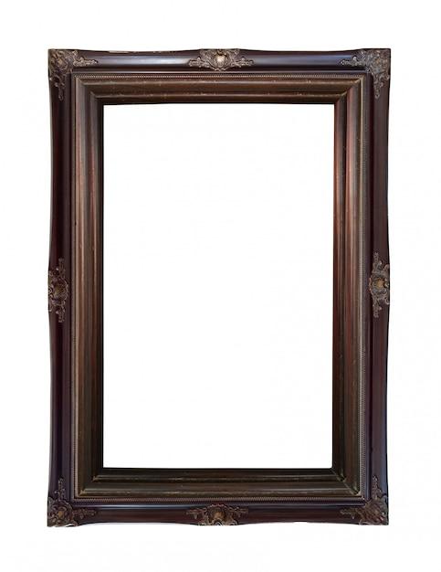 Close up vintage rust picture frame Premium Photo