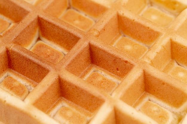 Close-up of waffle pattern Free Photo