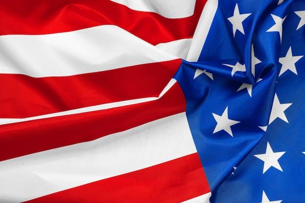 Close-up of waving american flag Premium Photo