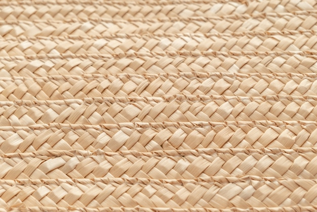 Close up wicker basket texture for use as background . woven basket texture. Premium Photo