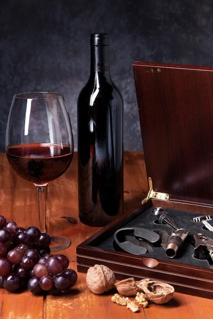 Close-up of wine tasting elements Free Photo