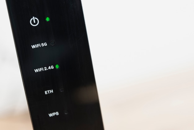 Close-up of wireless router with copy-space Free Photo