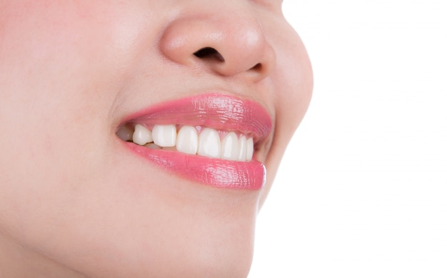 Close-up of woman with a fantastic smile Free Photo