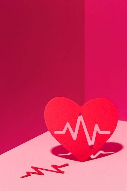 Close-up world heart day concept Free Photo