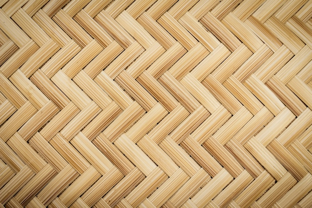 Close up of woven bamboo for background Premium Photo