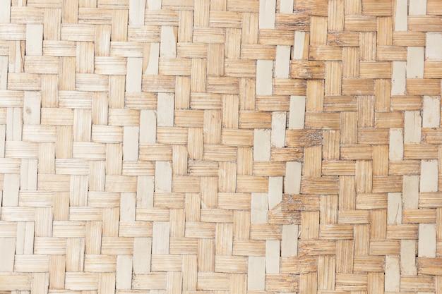 Close up woven bamboo texture Premium Photo