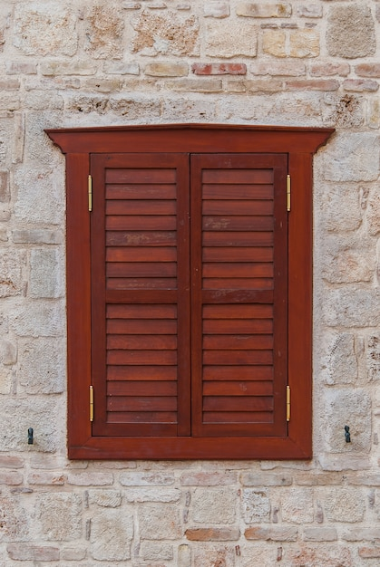 Closed window shutters Premium Photo