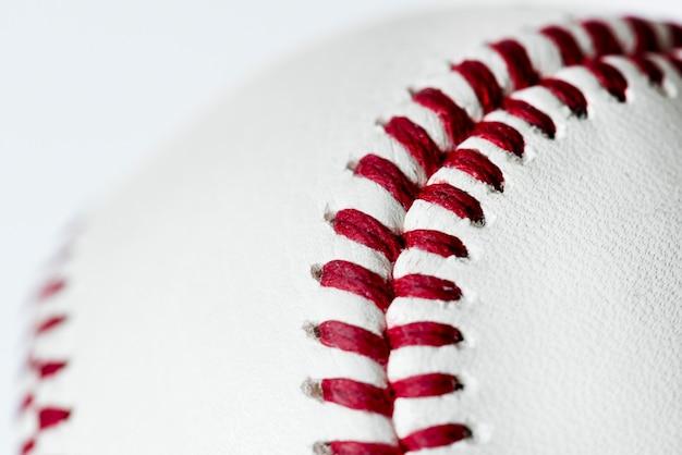 Closeup of baseball Free Photo
