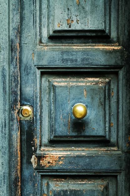 Closeup di blu turchese old antiquariato testurizzati con oro br Foto Gratuite