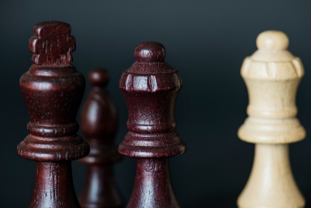 Closeup of chess pieces Free Photo