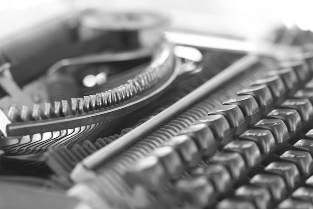 Closeup classic typewriter Premium Photo