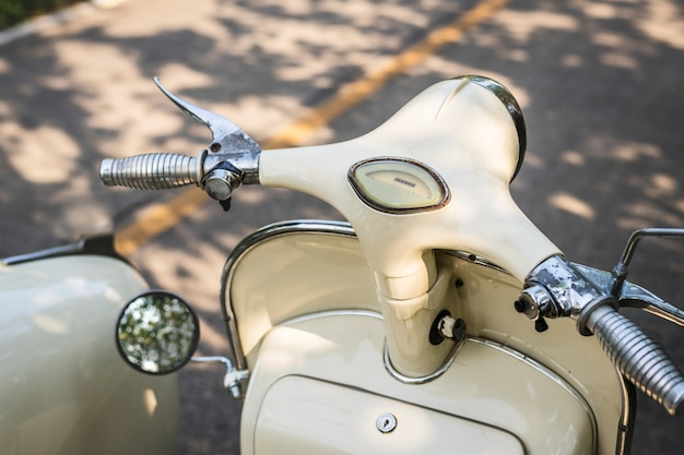 Closeup of a classic vintage scooter Free Photo