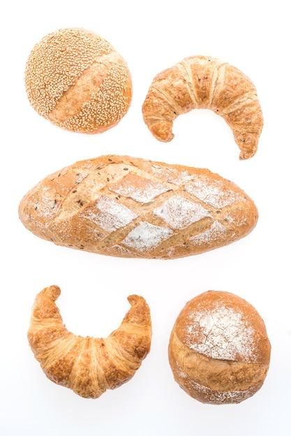 Крупным планом круассан пекарня крена еды Бесплатные Фотографии
