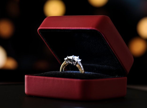 Closeup of diamond ring Free Photo