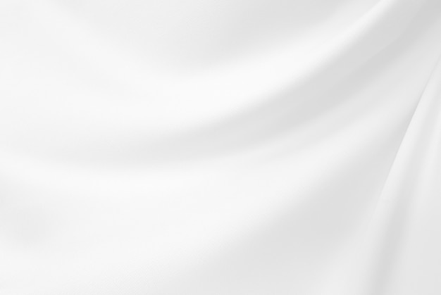 Closeup  elegant crumpled of white silk fabric cloth and texture. Premium Photo