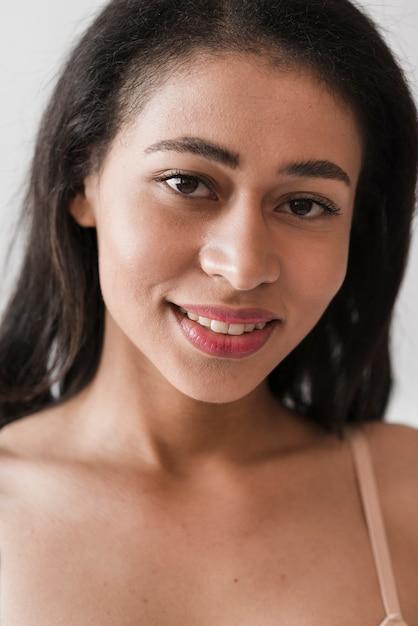 Closeup of ethnic woman Free Photo