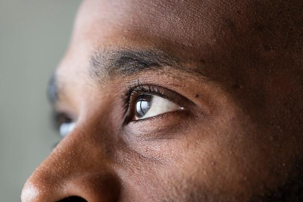 Closeup eye black man 53876 20513