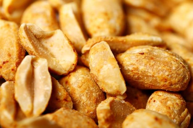 Closeup of fried peanuts Free Photo