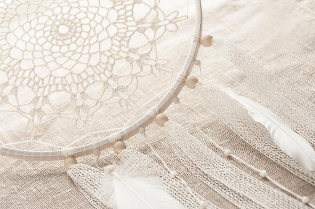 Closeup of handmade dream cathcer Premium Photo