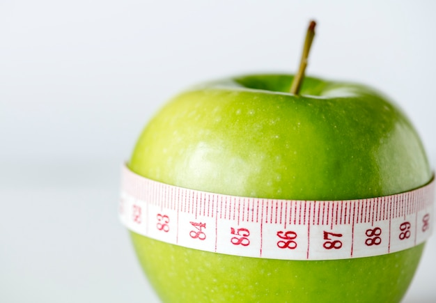 Closeup of healthy diet and weight loss concept Free Photo