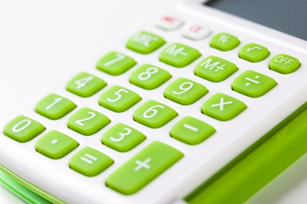Closeup image of calculator keyboard Premium Photo