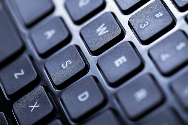 Closeup of a keyboard Free Photo