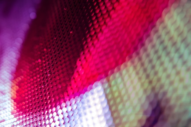 Closeup led blurred screen. led soft focus background. abstract background ideal for design. Premium Photo