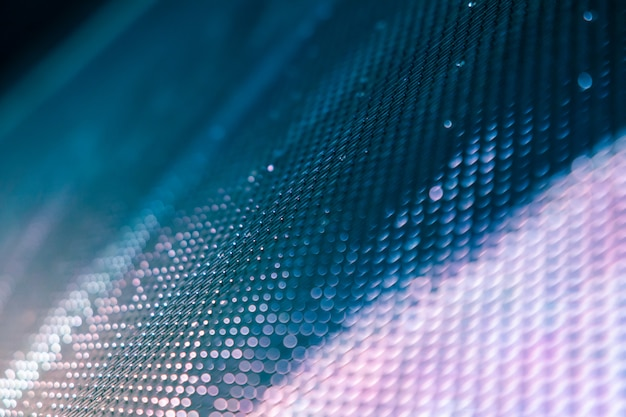 Closeup led blurred screen. led soft focus background. abstract background Premium Photo