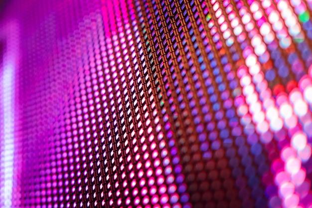 Closeup led blurred screen. led soft focus background. Premium Photo