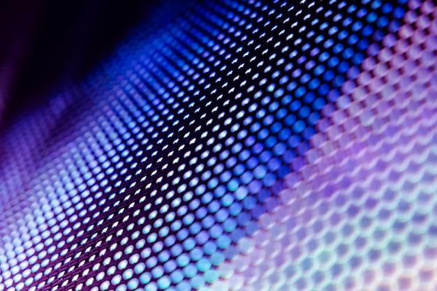Closeup led blurred screen. led soft focus background Premium Photo