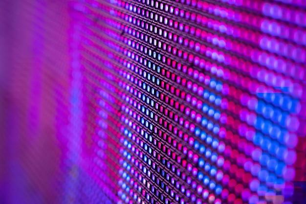 Closeup led blurred screen Premium Photo