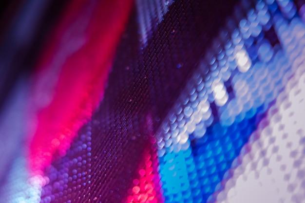 Closeup led размытый экран. светодиодная мягкая фокусировка фона. абстрактный фон Premium Фотографии