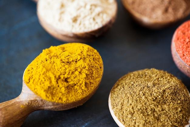 Closeup of mixed spice powder Free Photo