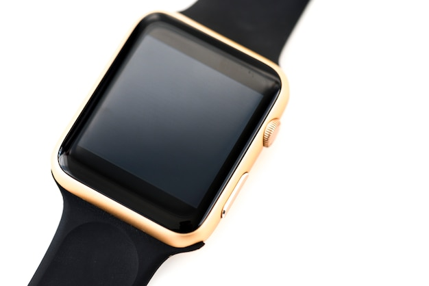 Closeup of mockup smartwatch isolated on whtie background Free Photo