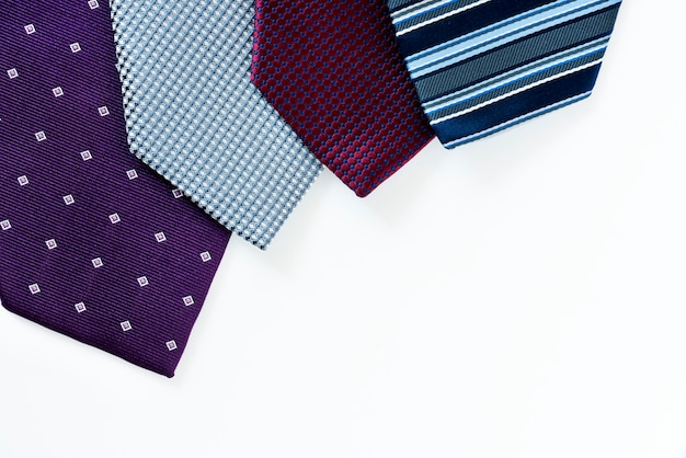 Closeup of necktie Free Photo