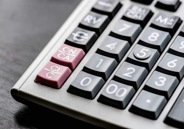 Closeup of calculator Free Photo