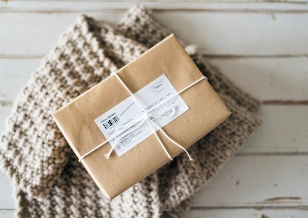 Closeup of parcel box Free Photo