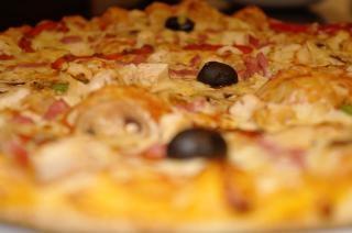 Closeup pizza, zoom Foto Gratuite