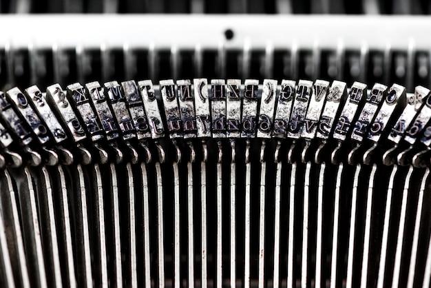 Closeup of retro typewriter Free Photo