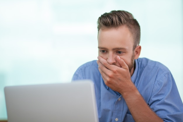 Image result for shocked man at computer