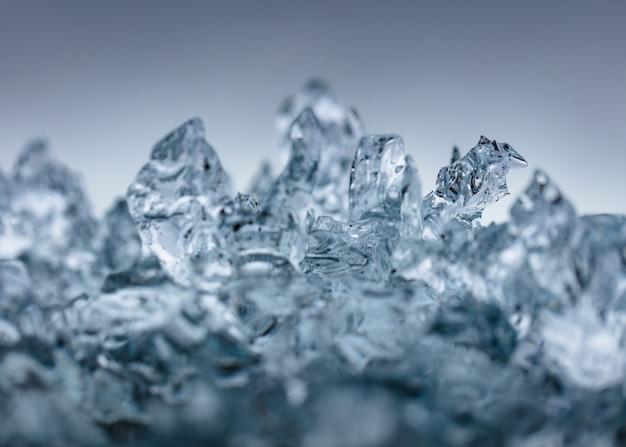 Closeup shot of beautiful frosty ice Free Photo