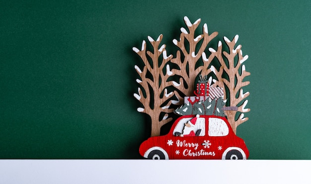 Closeup shot of a christmas cardboard with decorations Free Photo