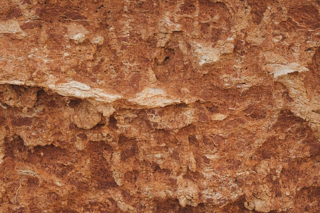 Closeup shot of the edges of a brown cliff. texture background Free Photo