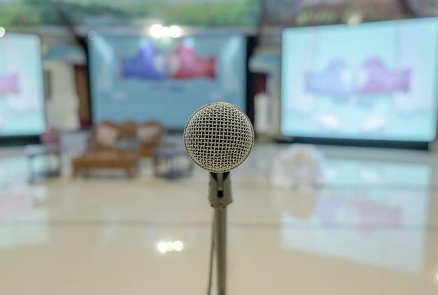 Closeup shot of a microphone Free Photo