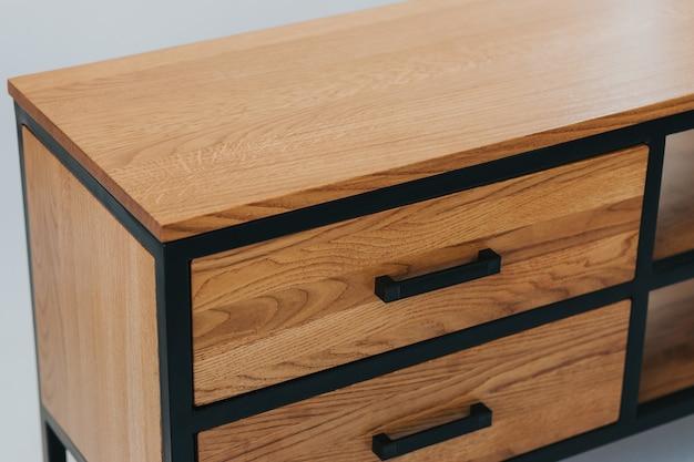 木製の引き出しのセットのクローズアップショット 無料写真