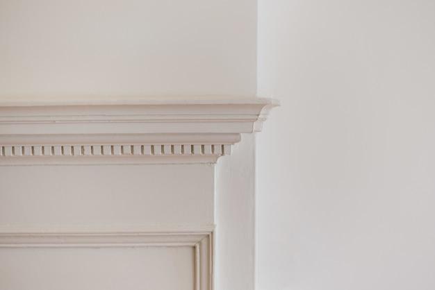 白い壁のクローズアップショット 無料写真