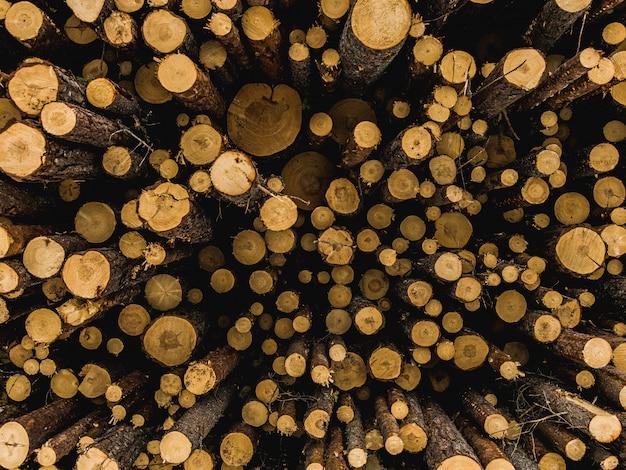 みじん切り薪のクローズアップショット 無料写真